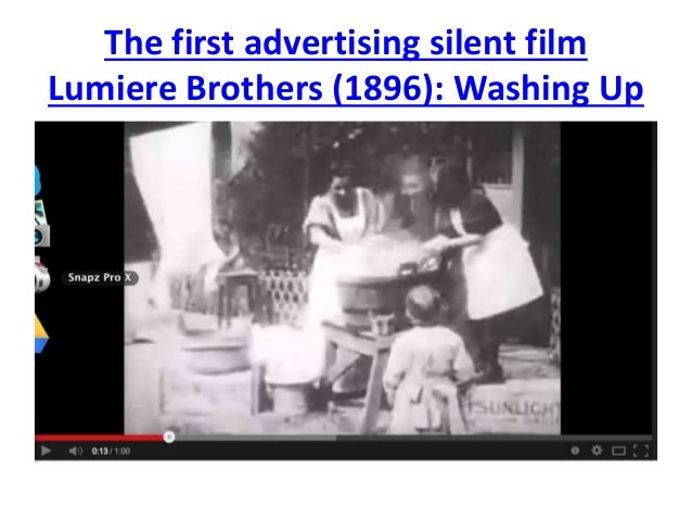 The first advertising silent film  Lumiere Brothers (1896): Washing Up