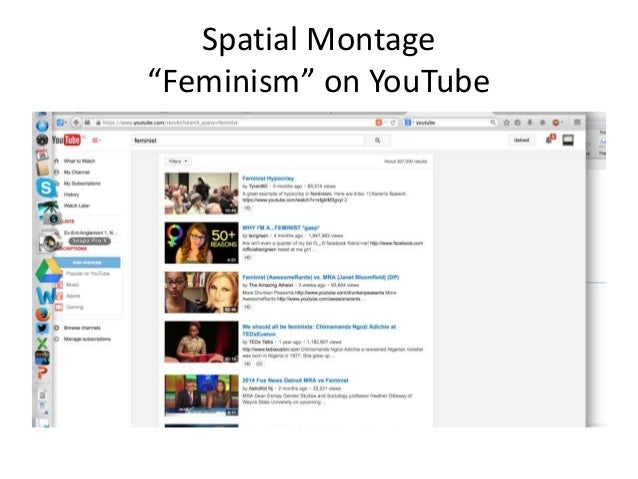 """Spatial Montage  """"Feminism"""" on YouTube"""