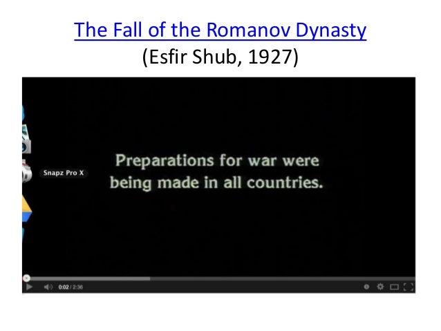 The Fall of the Romanov Dynasty  (Esfir Shub, 1927)