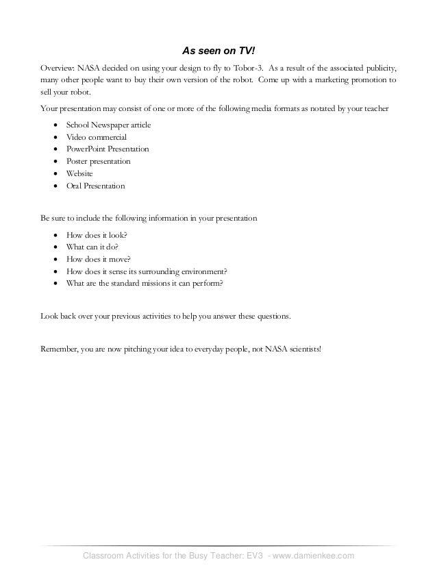 Ev3 student worksheets