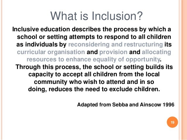 the inclusive learning environment Creating a warm and inclusive classroom creating a warm and inclusive classroom environment: learning and have the opportunity to work cooperatively.