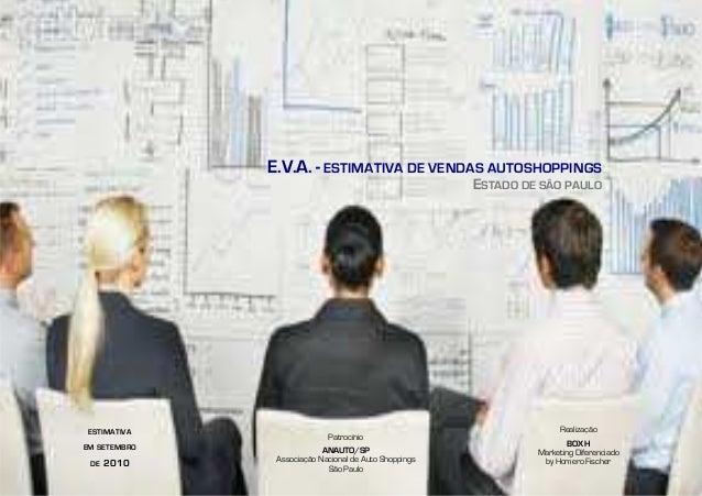 E.V.A. - ESTIMATIVA DE VENDAS AUTOSHOPPINGS ESTADO DE SÂO PAULO Patrocínio ANAUTO/SP Associação Nacional de Auto Shoppings...