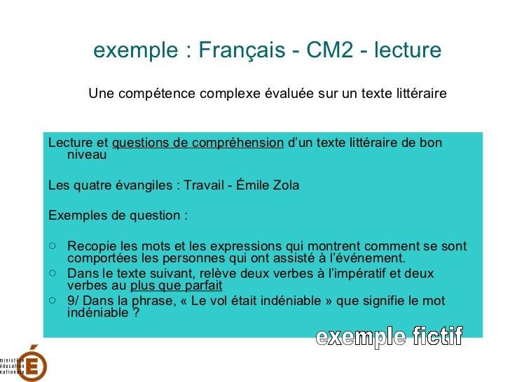 Evaluations ce1 et cm2 2009 for Portent verbe