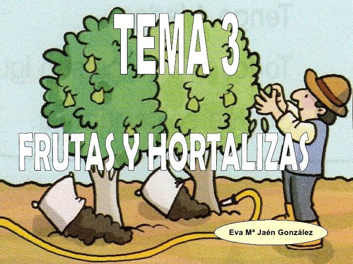 FRUTAS Y HORTALIZAS TEMA 3