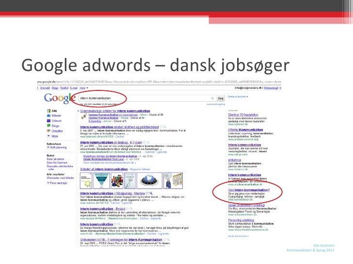 Google adwords – dansk jobsøger