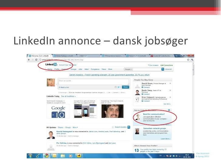 LinkedIn annonce – dansk jobsøger
