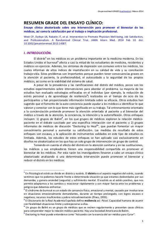 Grupoevalmed‐GRADE(evalmed.es);Marzo‐2014 1 RESUMENGRADEDELENSAYOCLÍNICO: Ensayo clínico aleatorizado sobre ...