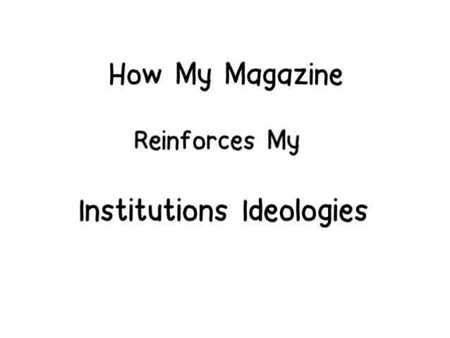 After researching into different institutions I realised no institutions fit what my magazine wanted to represent. Therefo...