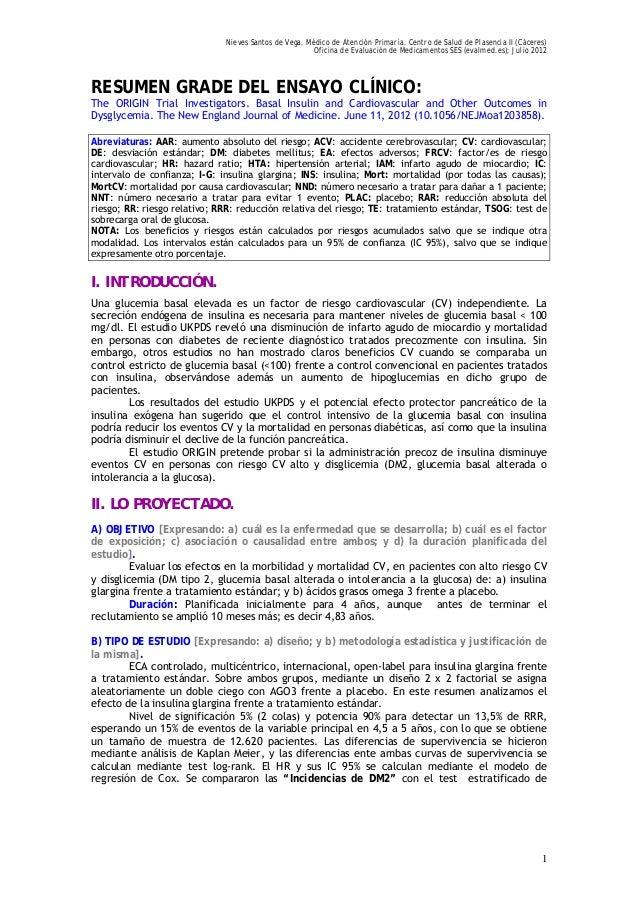 Nieves Santos de Vega. Médico de Atención Primaria. Centro de Salud de Plasencia II (Cáceres) Oficina de Evaluación de Med...