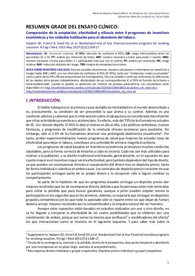 Marta de Miguel y Raquel Martín. R-1 Medicina FyC. Área Salud Cáceres Oficina Eval Mtos SES (evalmed.es), 24-jun-2018 1 RE...