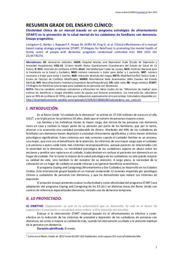 Grupoevalmed‐GRADE(evalmed.es);Nov‐2013  RESUMENGRADEDELENSAYOCLÍNICO: Efectividad clínica de un manual basa...
