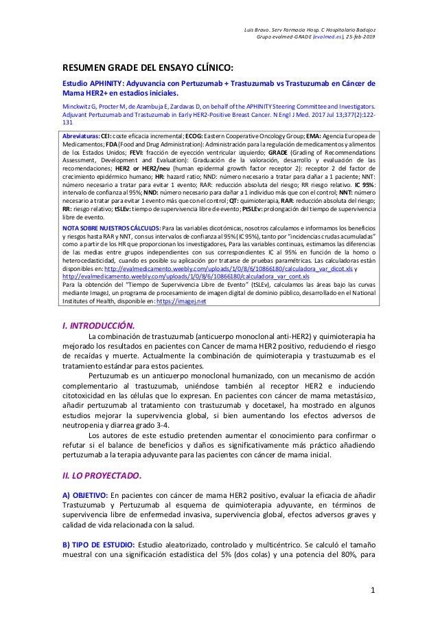 Luis Bravo. Serv Farmacia Hosp. C Hospitalario Badajoz Grupo evalmed-GRADE (evalmed.es), 25-feb-2019 1 RESUMEN GRADE DEL E...