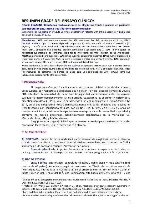 CristinaTejera.EndocrinólogoR‐4.ServicioEndocrinología.HospitaldeBadajoz,Mayo,2014 Grupoevalmed‐GRADE  1 RES...