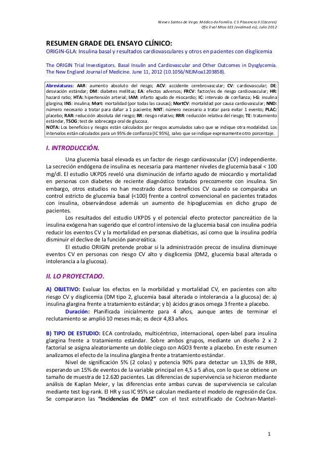 Nieves Santos de Vega. Médico de Familia. C S Plasencia II (Cáceres) Ofic Eval Mtos SES (evalmed.es); Julio 2012 1 RESUMEN...