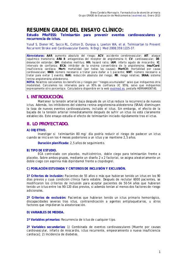 Elena Candela Marroquín. Farmacéutica de atención primaria                                       Grupo GRADE de Evaluación...