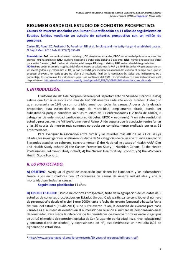 Manuel Martínez Castaño. Médico de Familia. Centro de Salud Zona Norte, Cáceres Grupo evalmed-GRADE (evalmed.es); Marzo 20...