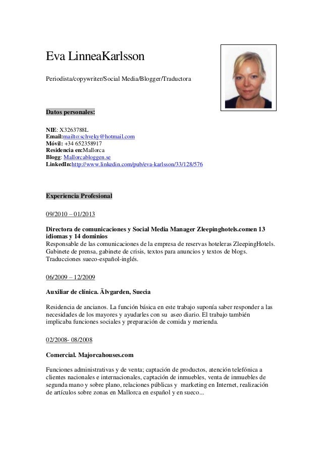Curriculum Vitae Espa Ol 2013 Essays For Money
