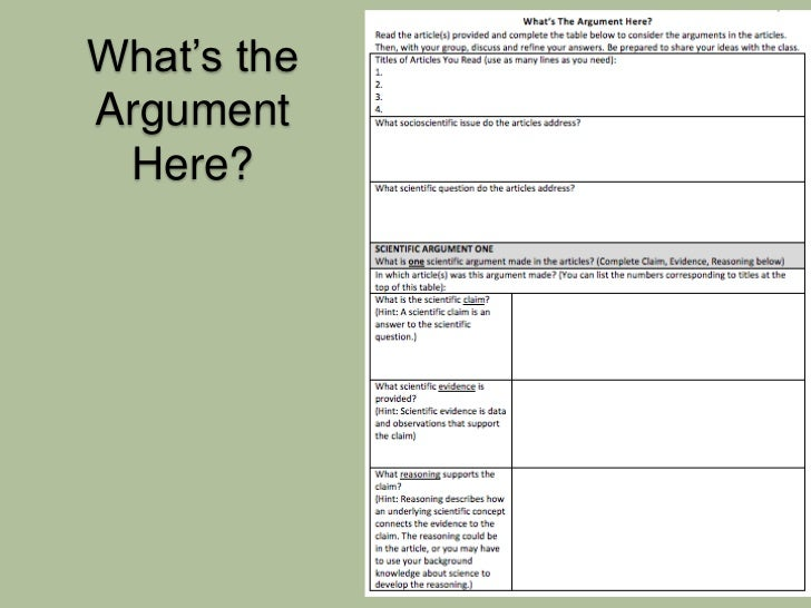 evaluating a claim Evaluating arguments insulin background a scientific argument should have a  clear claim, supporting evidence, and reasoning that connects.