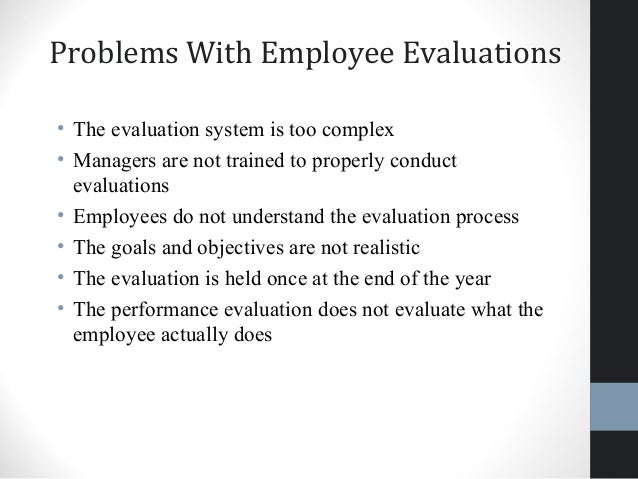 Conduct Employee Evaluations Employee Evaluation Sample Employee