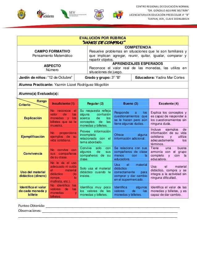 "CENTRO REGIONAL DE EDUCACIÓN NORMAL ""DR. GONZALO AGUIRRE BELTRÁN"" LICENCIATURA EN EDUCACIÓN PREESCOLAR 4° ""B"" TUXPAN, VER...."