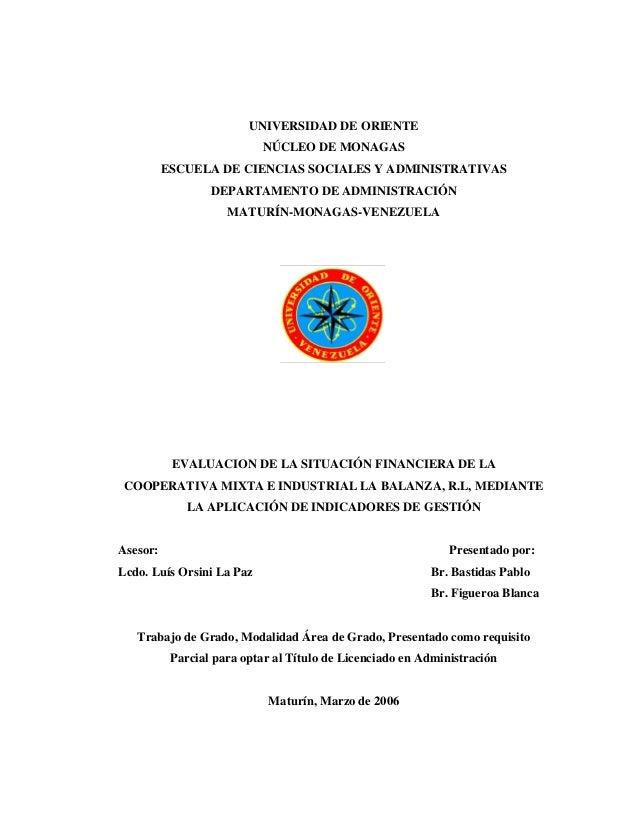 UNIVERSIDAD DE ORIENTE NÚCLEO DE MONAGAS ESCUELA DE CIENCIAS SOCIALES Y ADMINISTRATIVAS DEPARTAMENTO DE ADMINISTRACIÓN MAT...