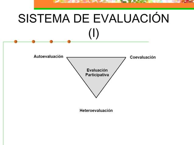 SISTEMA DE EVALUACIÓN (IV) • HETEROEVALUACIÓN • Teniendo en cuenta la autoevaluación y la coevaluación el profesor llevand...