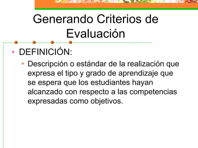 Instrumentos de Evaluación (II) • Exámenes orales (respuesta corta, concreta, breve y rígida) • Producciones (mapas, esque...