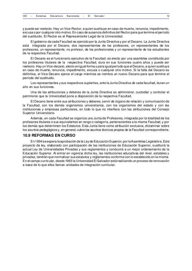 OEI   -   Sistemas   Educativos   Nacionales   -   El   Salvador                                       12y puede ser reele...
