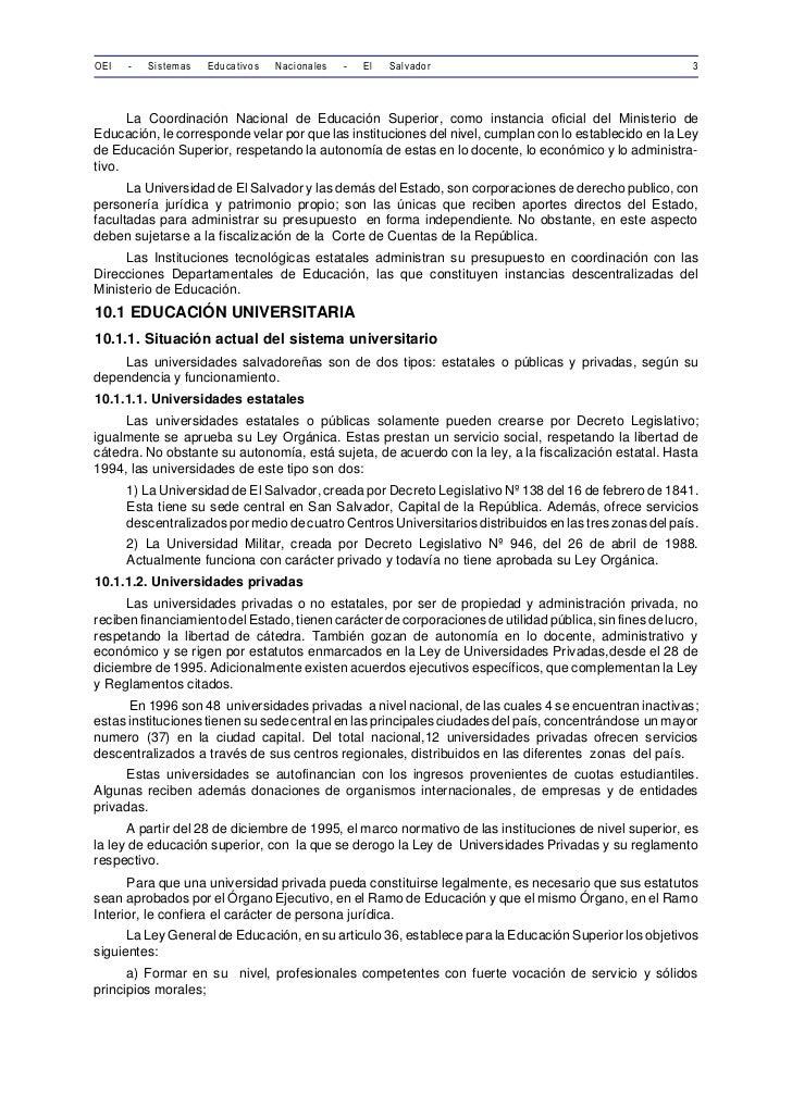 OEI   -   Sistemas   Educativos   Nacionales   -   El   Salvador                                           3      La Coord...