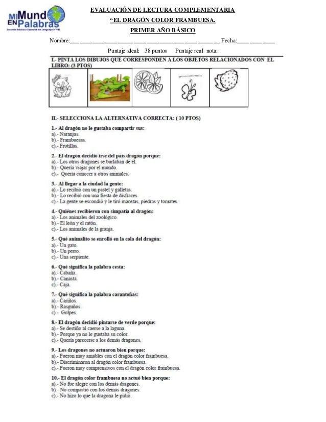 Evaluación de lectura complementaria