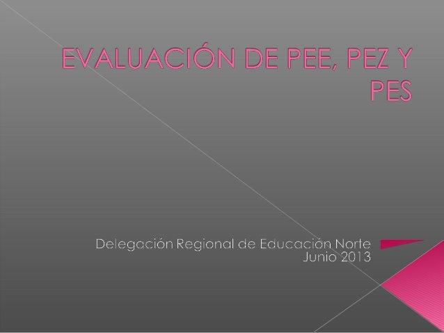    Fortalecer los procesos de evaluación de los    PEE, PES y PEZ como aspecto fundamental para    mejorar su diseño, des...