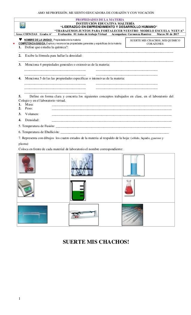 Evaluación individual sobre propiedades de la materia marzo 30 -20…
