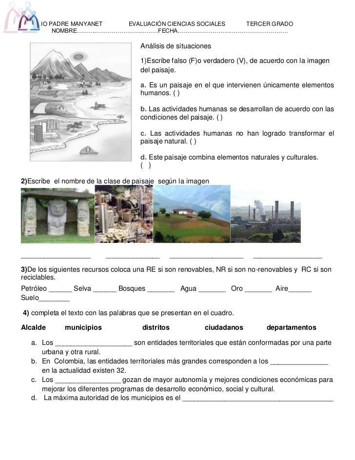 142875-1714500Análisis de situaciones<br />1)  Escribe falso (F) o verdadero (V), de acuerdo con la imagen del paisaje.<br...