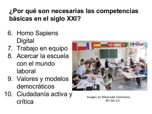 ¿Por qué son necesarias las competencias básicas en el siglo XXI? 6. Homo Sapiens Digital 7. Trabajo en equipo 8. Acercar ...