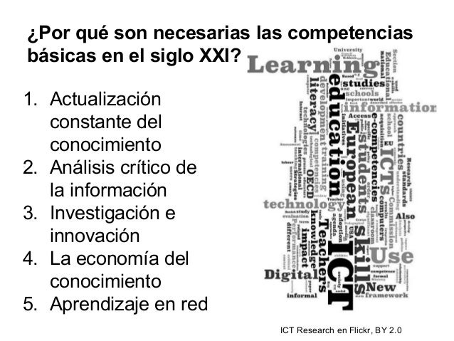 ¿Por qué son necesarias las competencias básicas en el siglo XXI? 1. Actualización constante del conocimiento 2. Análisis ...