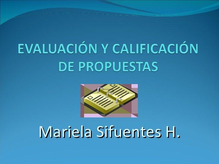 Mariela Sifuentes H.