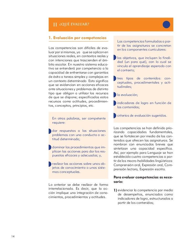¿qué evaluar?     1. Evaluación por competencias                                                   Las competencias formul...