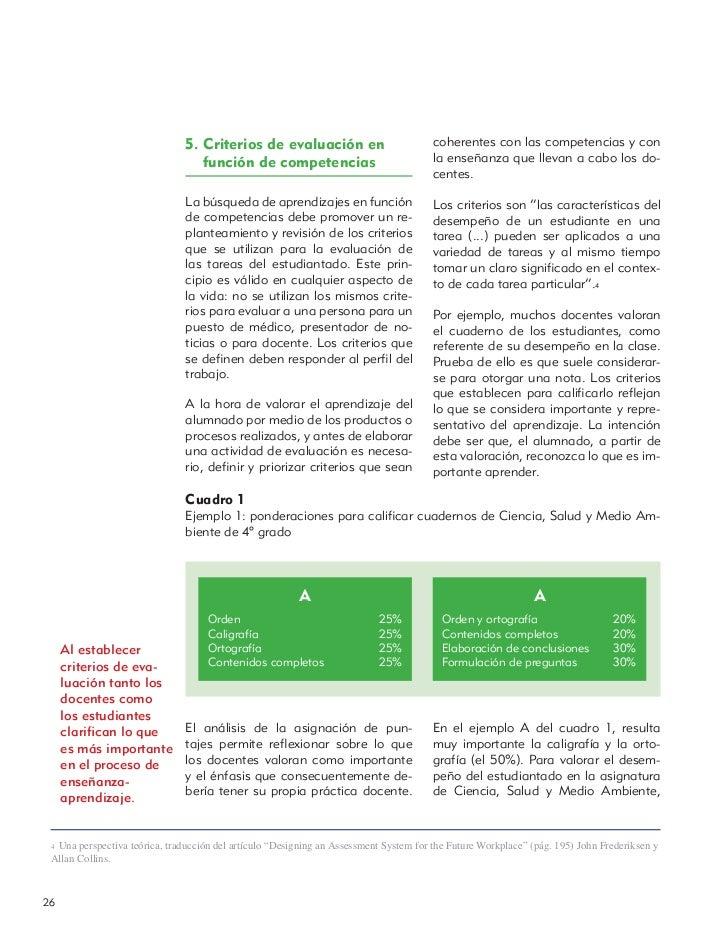5. Criterios de evaluación en                           coherentes con las competencias y con                             ...