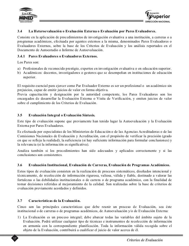 1.4.3. La institución debe evaluar periódicamente la concreción de sus fines y objetivos y utilizar los       resultados d...