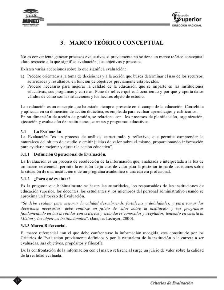 4. CRITERIOS DE EVALUACIÓN                                      DIMENSIÓN I                                 MISIÓN INSTITU...