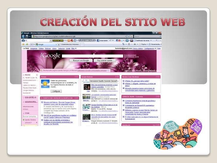 CREACIÓN DEL SITIO WEB<br />