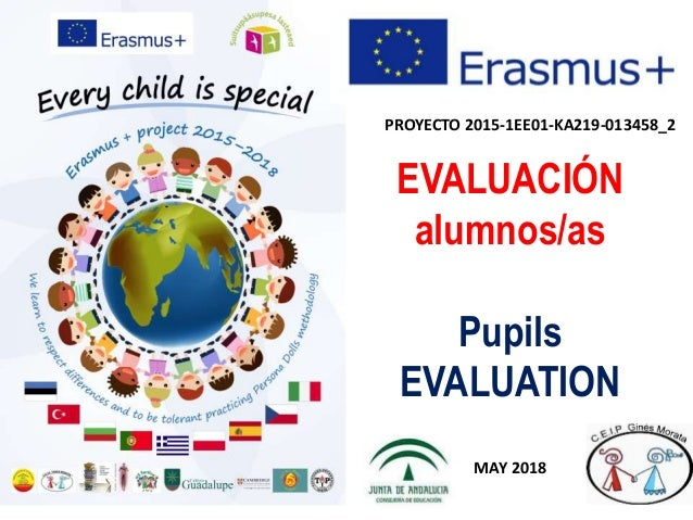 PROYECTO 2015-1EE01-KA219-013458_2 EVALUACIÓN alumnos/as Pupils EVALUATION MAY 2018