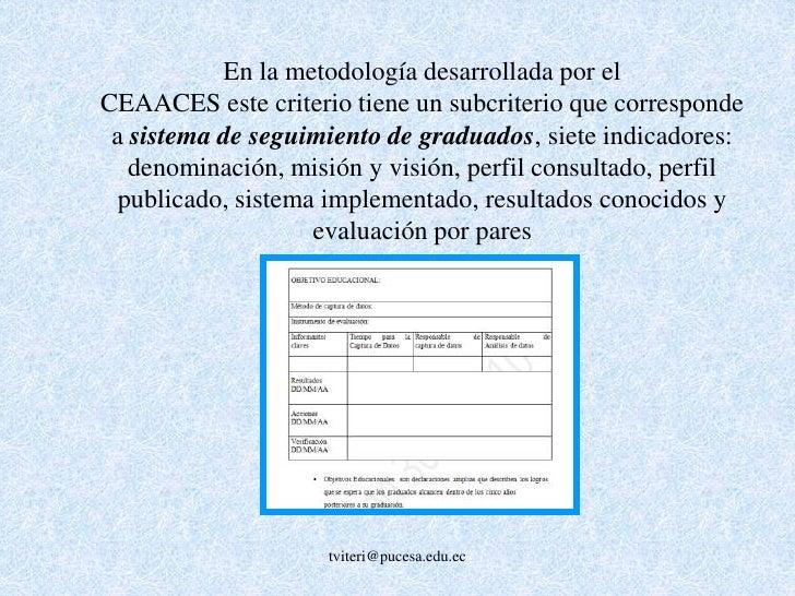 Criterio B: Currículo  <br />Los requerimientos curriculares especifican áreas de concentración de conocimiento de la carr...