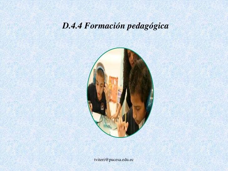 D.2.3 Calidad de la dedicación<br /><br />tviteri@pucesa.edu.ec<br />