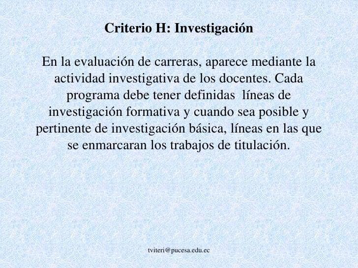 AMBIENTE INSTITUCIONAL(Criterio G – 6.4 %)<br /><ul><li>Escalafón docente</li></ul>(Reglamento de escalafón docente y su a...