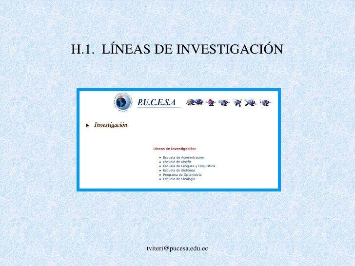 G.5. PERFECCIONAMIENTO DOCENTE<br />G.5.1. BECAS DE POSGRADO<br />G.5.2  SEMINARIOS <br />G.5.3  SABÁTICO<br />tviteri@puc...