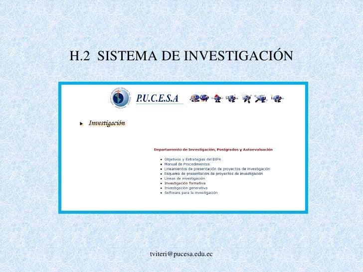G.6. QUEJAS DE ESTUDIANTES<br />G.7  SATISFACCIÓN<br />tviteri@pucesa.edu.ec<br />