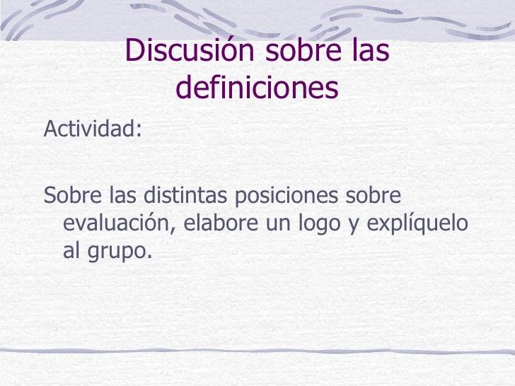 Evaluacion centrada en procesos Slide 3