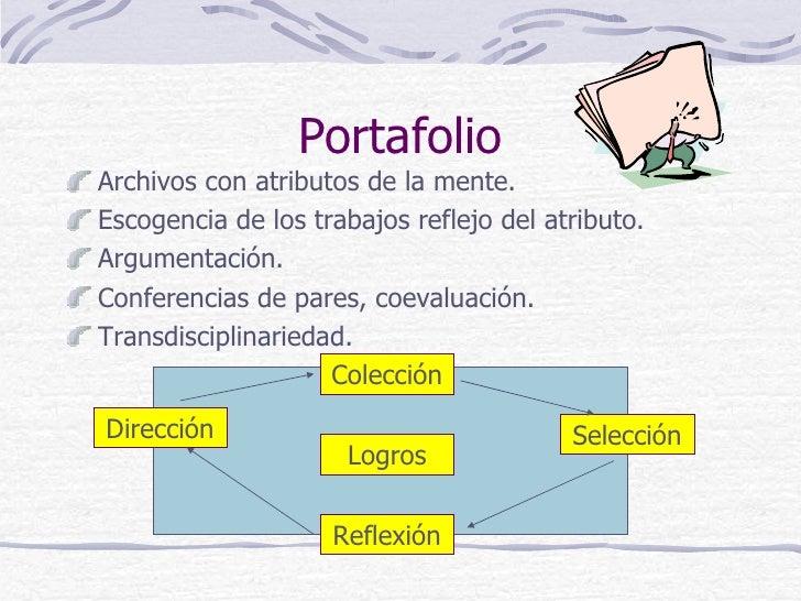 PortafolioArchivos con atributos de la mente.Escogencia de los trabajos reflejo del atributo.Argumentación.Conferencias de...