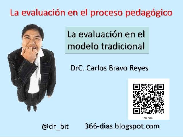 La evaluación en el proceso pedagógico             La evaluación en el             modelo tradicional                 DrC....